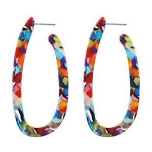 Bundle of 2 Mottled Acrylic Earrings